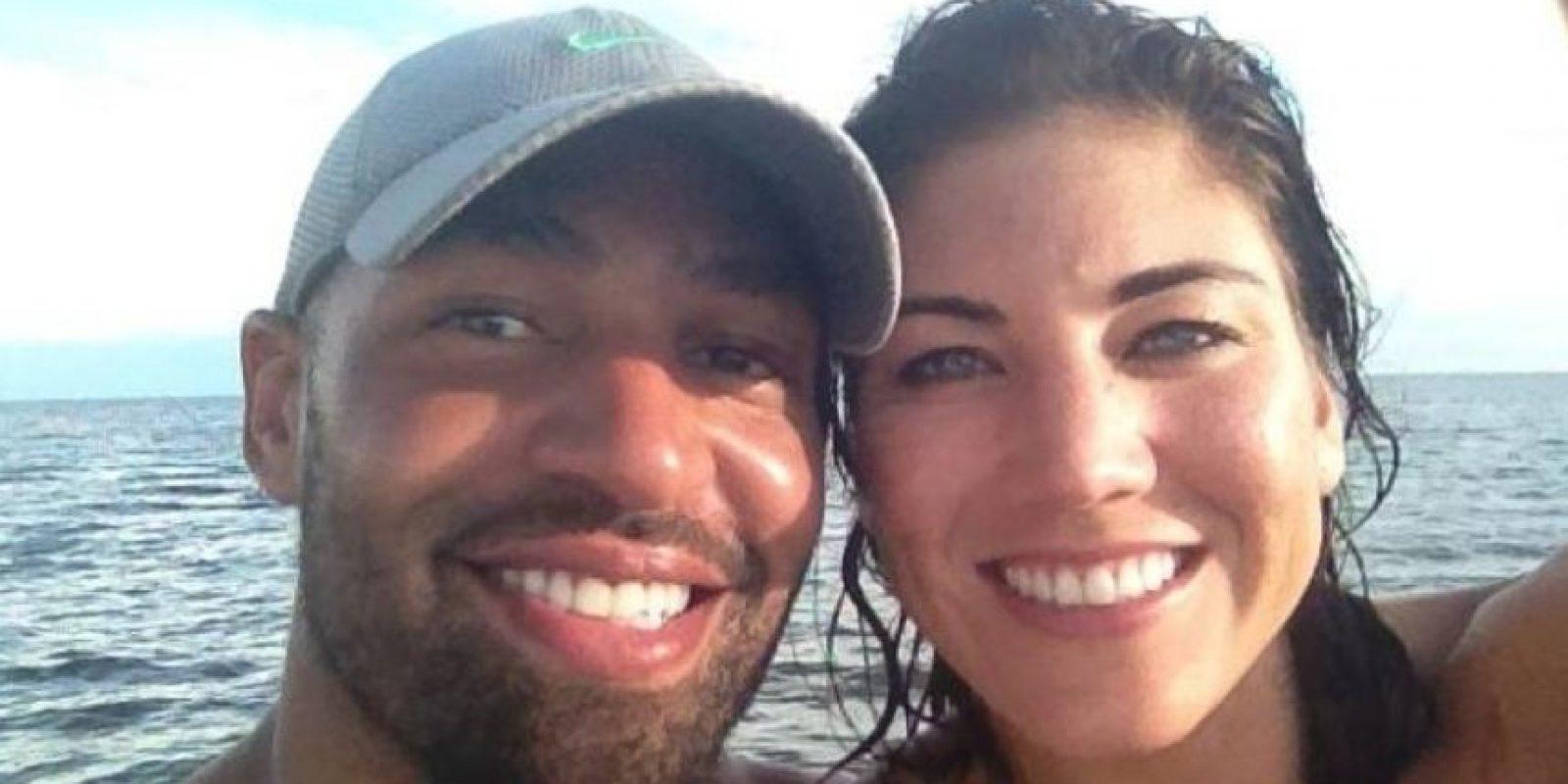 Hope Solo y Jerramy Stevens se casaron en 2012. Foto:facebook.com/hopesolo