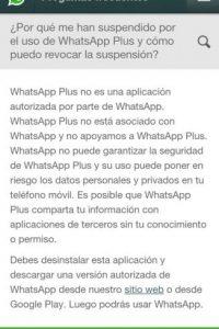 La explicación de WhatsApp al bloqueo. Foto:Twitter
