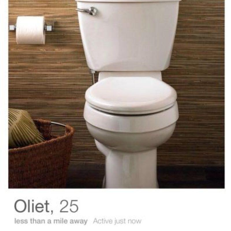 """""""Oliet"""", el inodoro que conquistó Tinder. Foto:vía distractify.com / Tinder"""