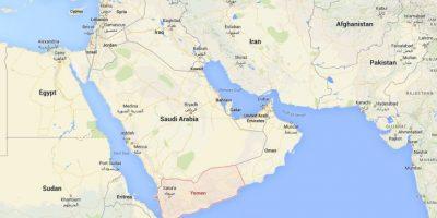 ¿Dónde está Yemen? Foto:Google Maps