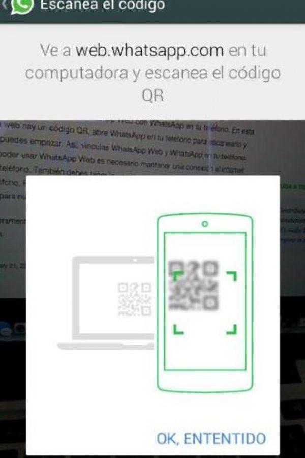 Les dirá información importante para leer el código QR. Foto:WhatsApp