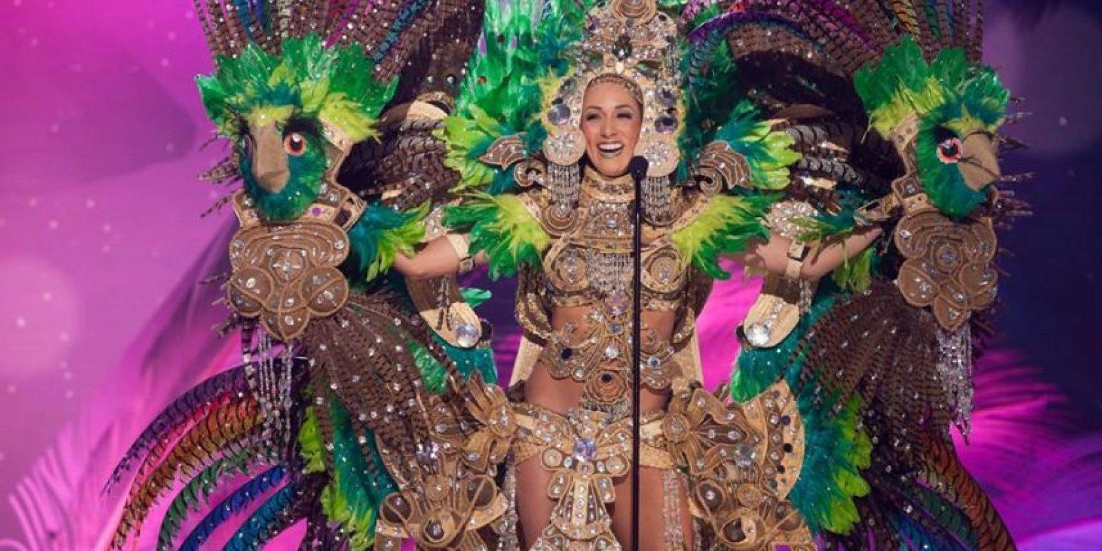 ¿Un ave, un guerrero, qué eres Marline Barberena? Foto:Facebook/Miss Nicaragua