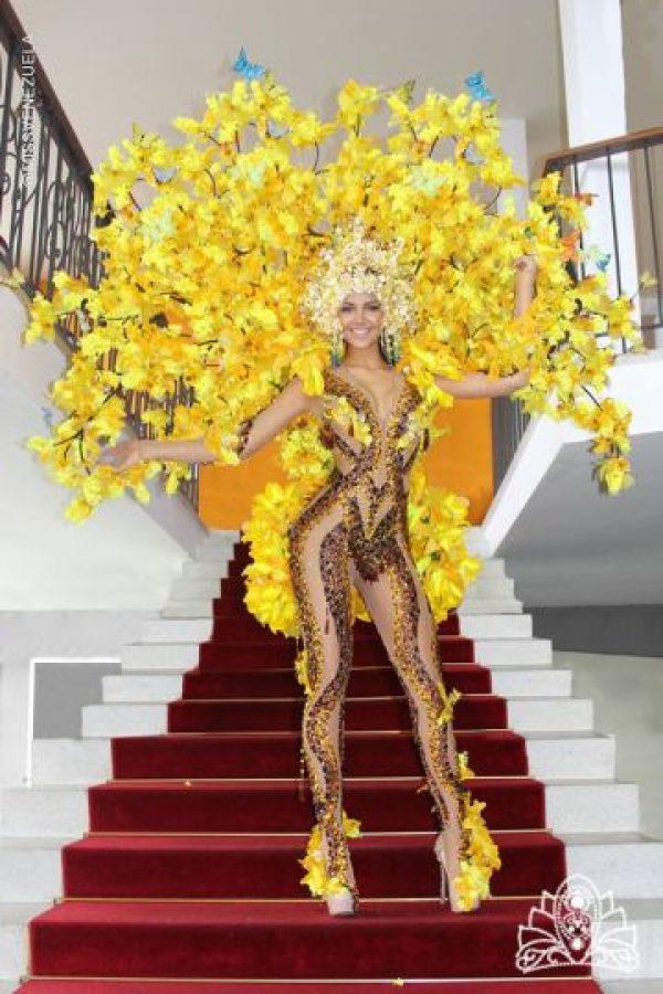 ¿Migbelis Lynette, eres un árbol? Foto:Facebook/Miss Venezuela Oficial