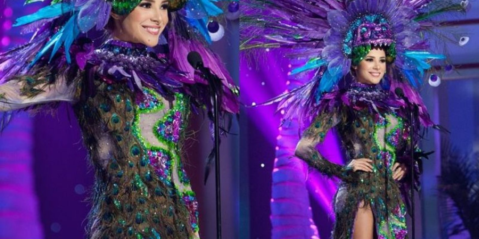 ¿Inspirado en los colores de la fauna mexicana? Foto:Facebook/ Miss México