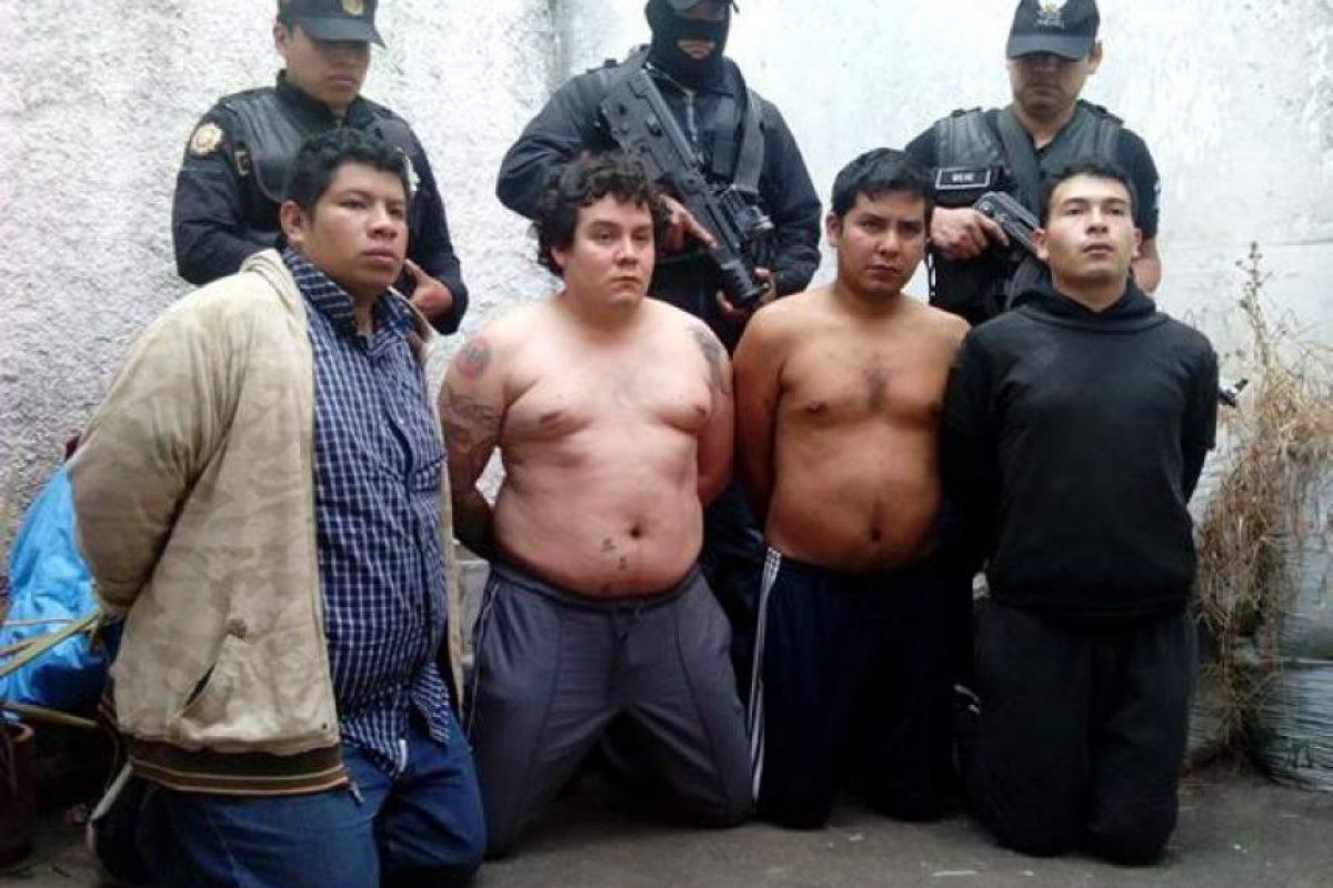 La supuesta banda de secuestradores. Foto:PNC