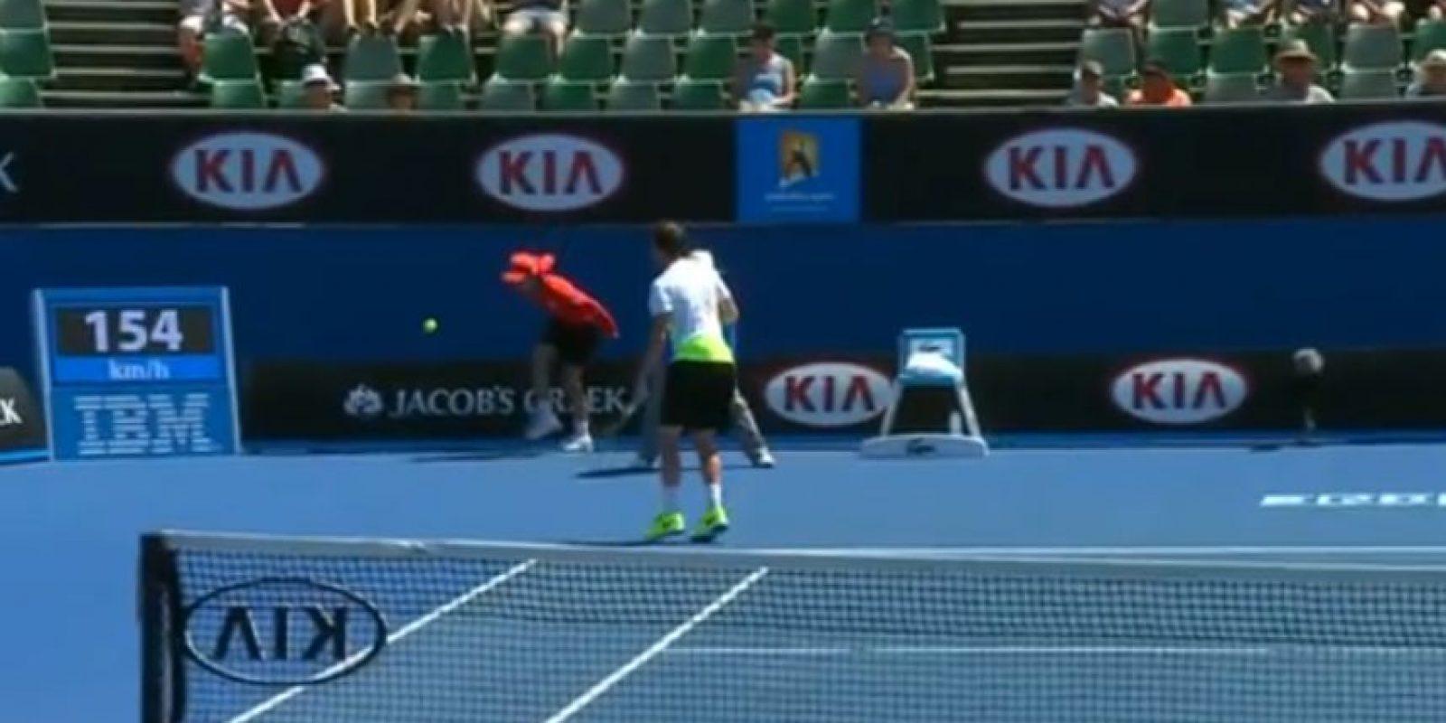 Feliciano López sacó a gran velocidad Foto:Youtube: Australian Open TV