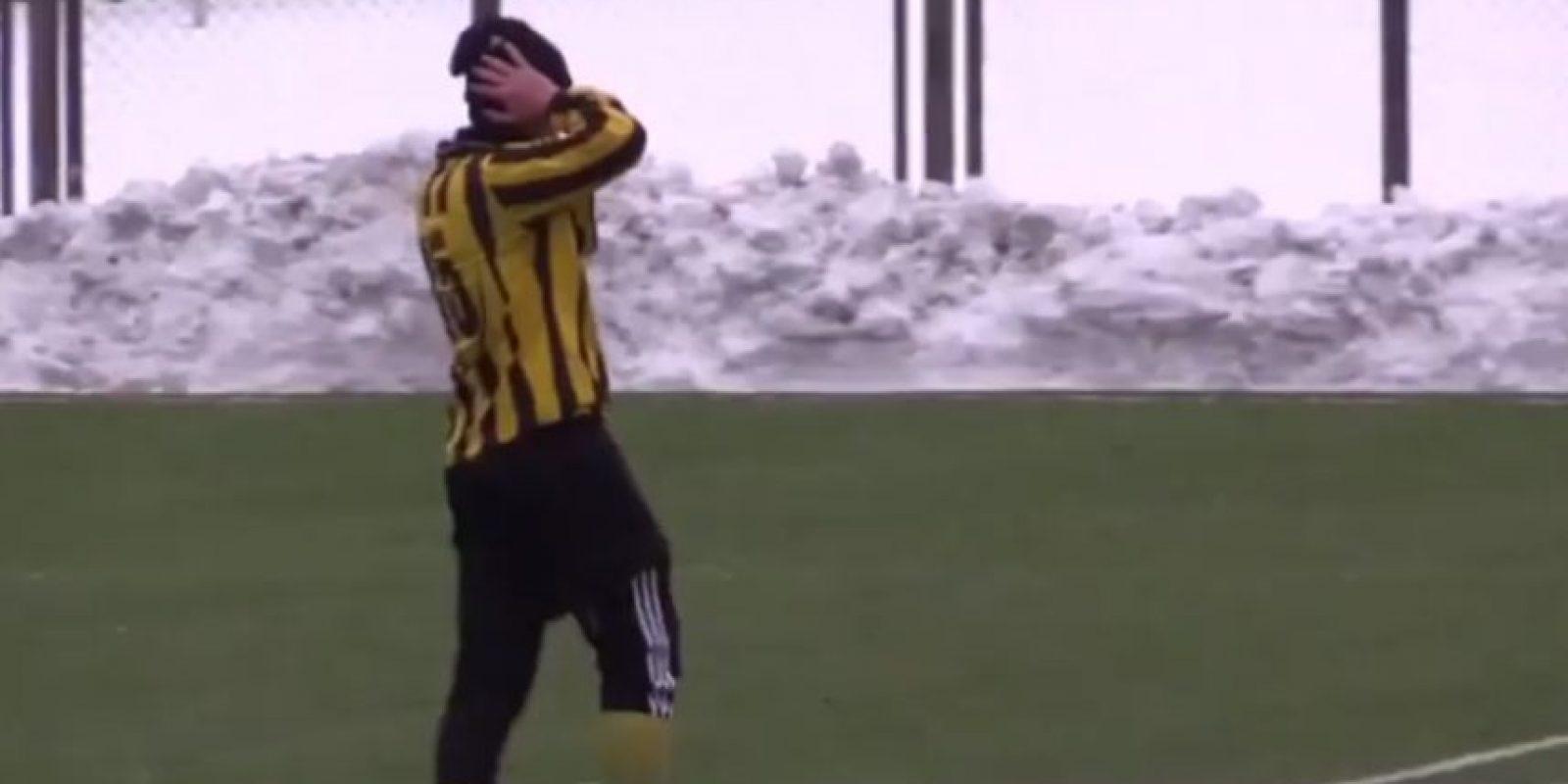 Jugador del FC Enerhiya Nova Kakhova de la segunda división de Ucrania Foto:Youtube: 101greatgoalsFan2