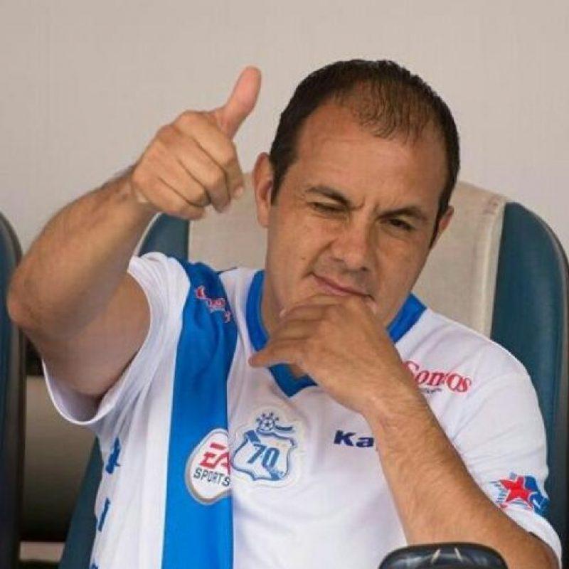 Blanco es jugador del Puebla de México. Foto:twitter.com/cuauhtemocb10