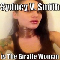 """Se inspiró en Lady Gaga para convertirse en """"la mujer jirafa"""" Foto:Facebook/Sydney V.Smith"""