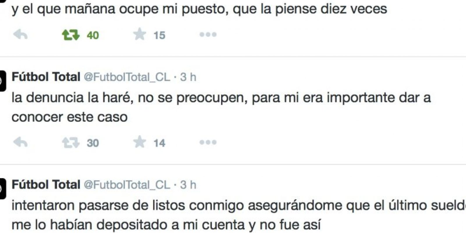 Advirtió a su reemplazo lo que le va a pasar. Foto:Twitter/FútbolTotal Chile
