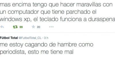 Todo comenzó con estos tweets. Foto:Twitter/FútbolTotal Chile