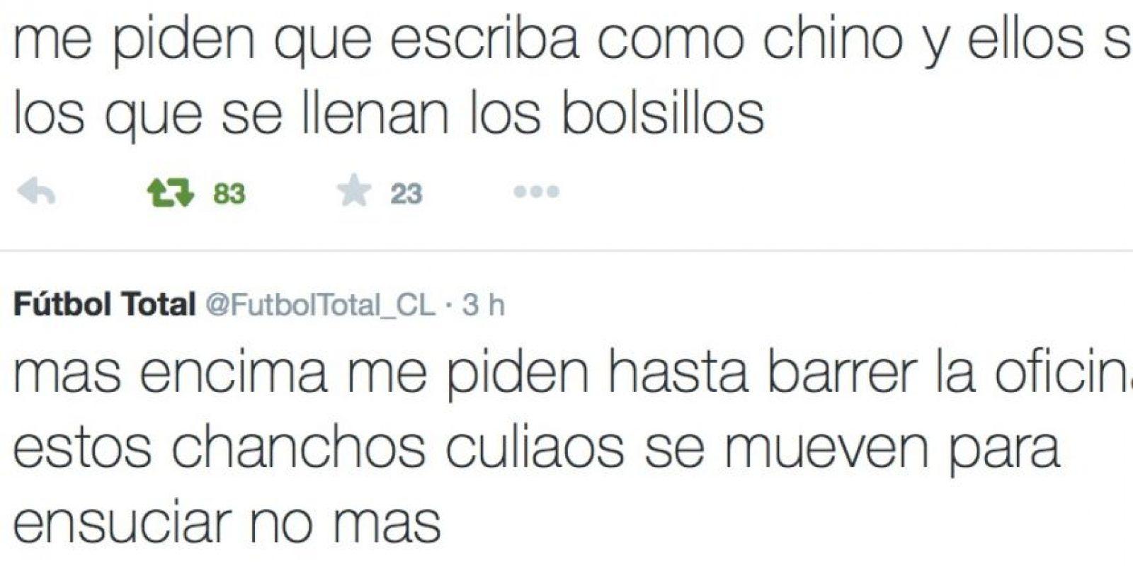Las pobres condiciones en las que vive. Foto:Twitter/FútbolTotal Chile