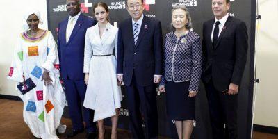 """""""Se trata de trabajar con gobiernos, negocios y universidades y hacer compromisos reales en el tema de equidad de género"""", comentó Watson Foto:Getty Images"""