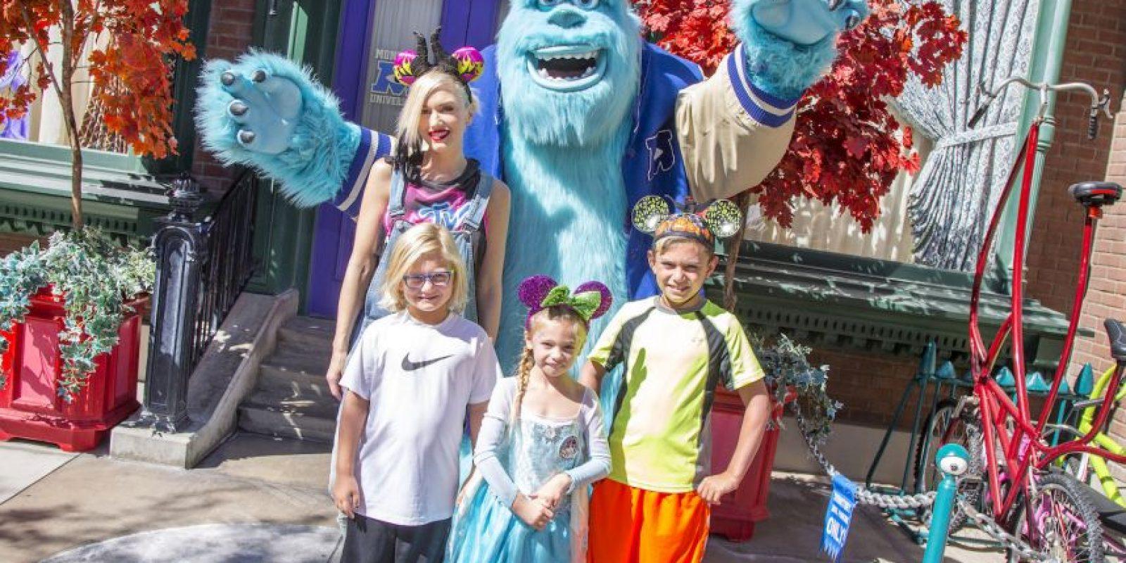 Gwen Stefani con sus hijos Foto:Getty Images