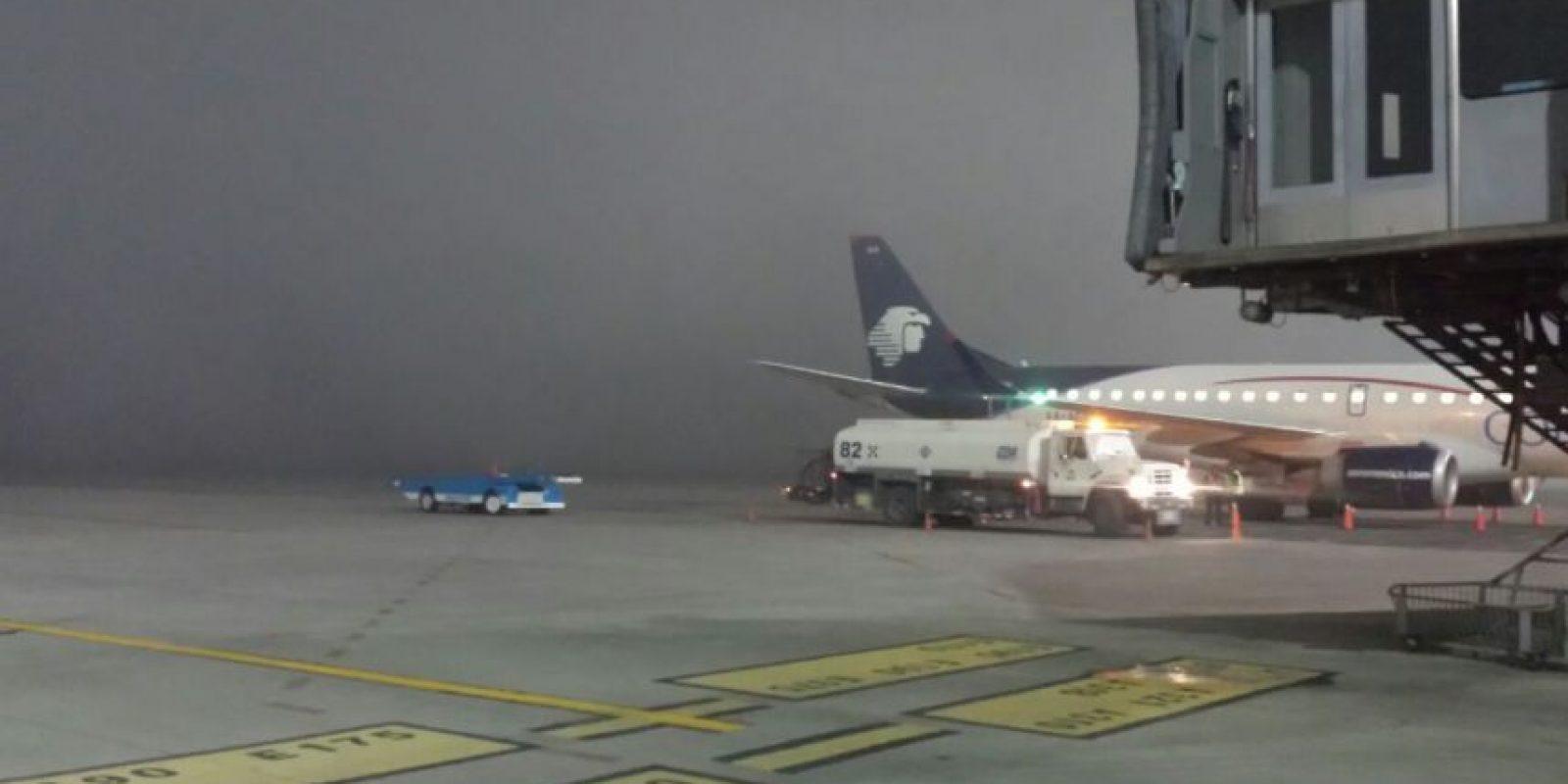 El vuelo de Aeroméxico que sufrió retraso Foto:Cortesía Aeropuerto La Aurora
