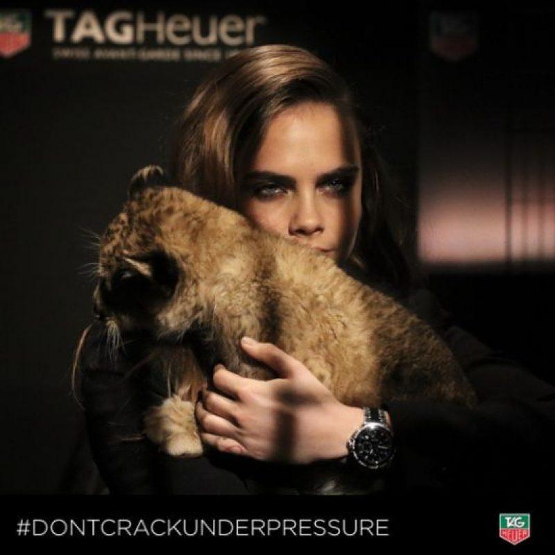 Cara es la nueva embajadora de Tag Heuer Foto:Instagram/tagheuer