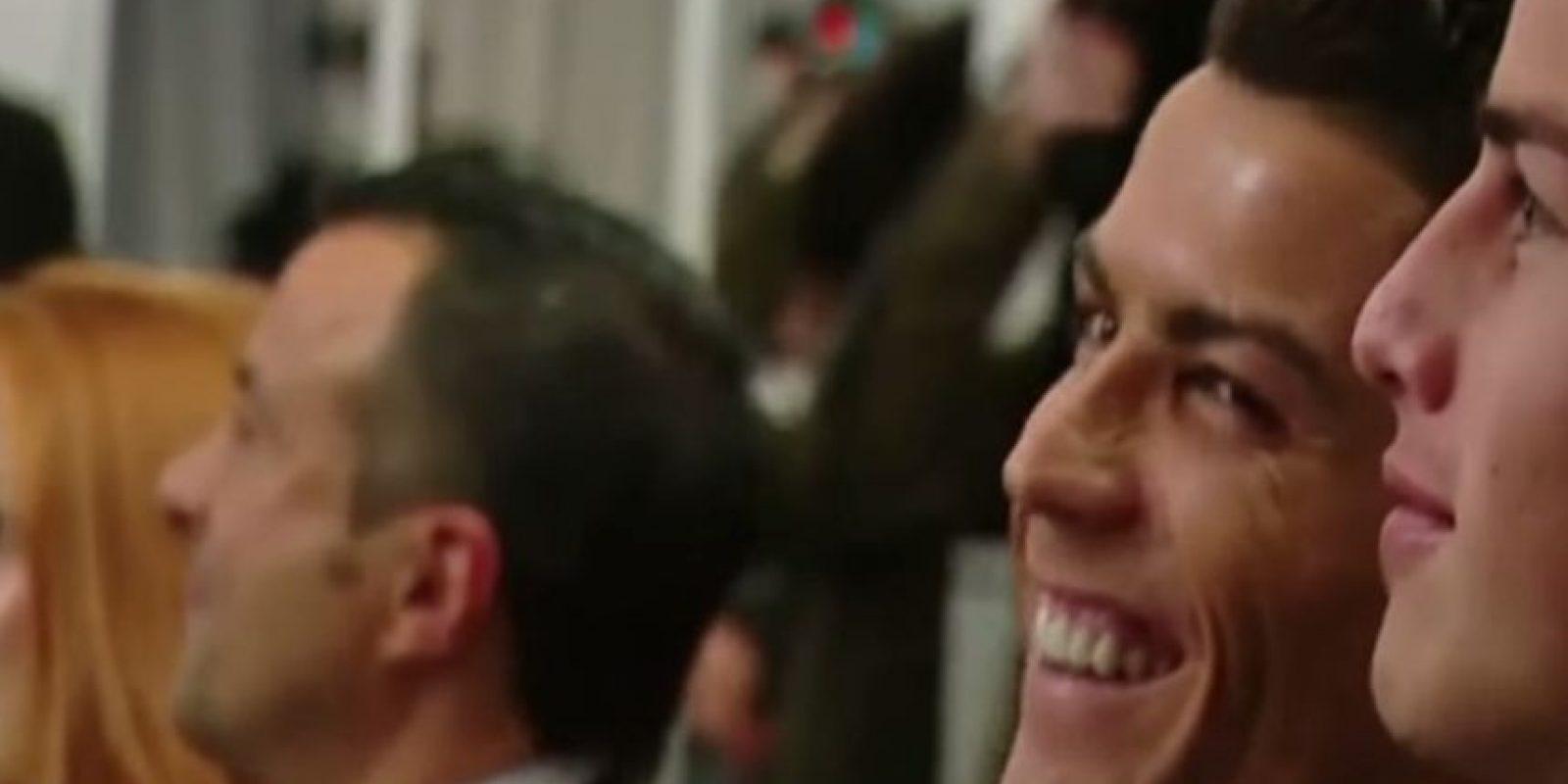 El futbolista portugués rió como nunca. Foto:YouTube