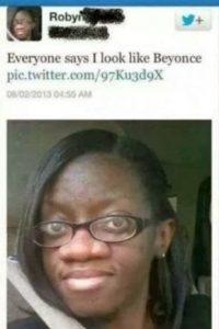 Ella dice que se parece a Beyoncé. Le creemos. Foto:Twitter