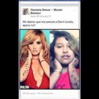 """""""Igualita"""" a Demi Lovato. Foto:Facebook"""