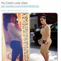 Kim Kardashian podría contratar a esta como su doble. Foto:Twitter