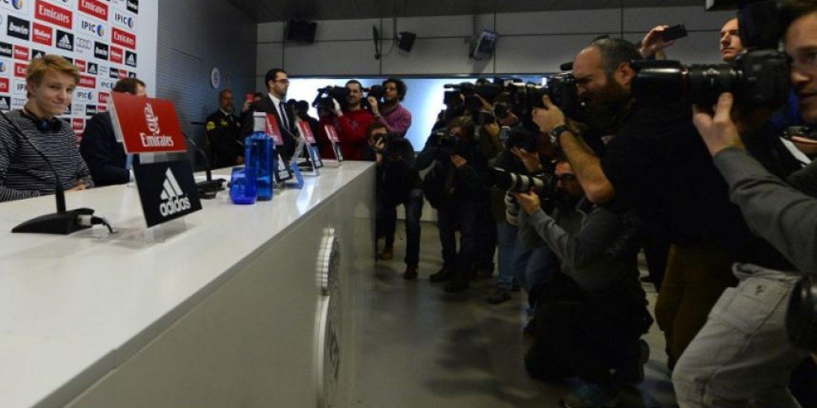 Odegaard causó gran sensación en su llegada al cuadro merengue. Foto:AFP