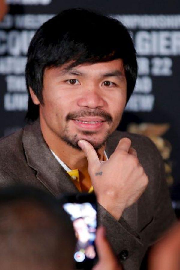 """El boxeador filipino fue nombrado """"Boxeador de la década"""" por el CMB y ha obtenido ocho títulos mundiales en la misma cantidad de categorías. Foto:Getty Images"""