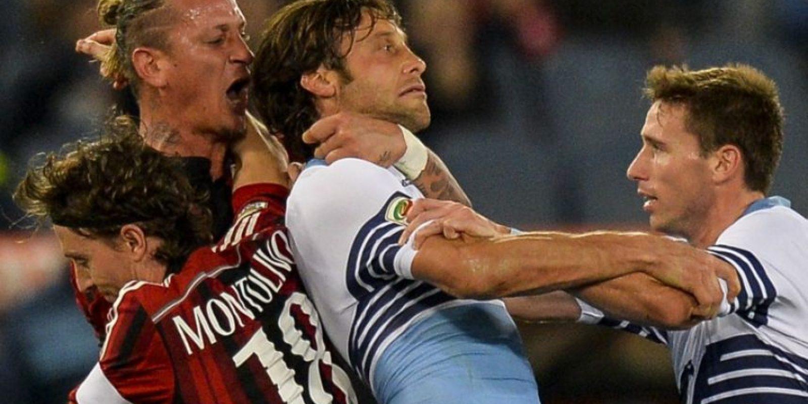 El zaguero francés se vio involucrado en este incidente con Amauri y podría ser castigado severamente. Foto:AFP