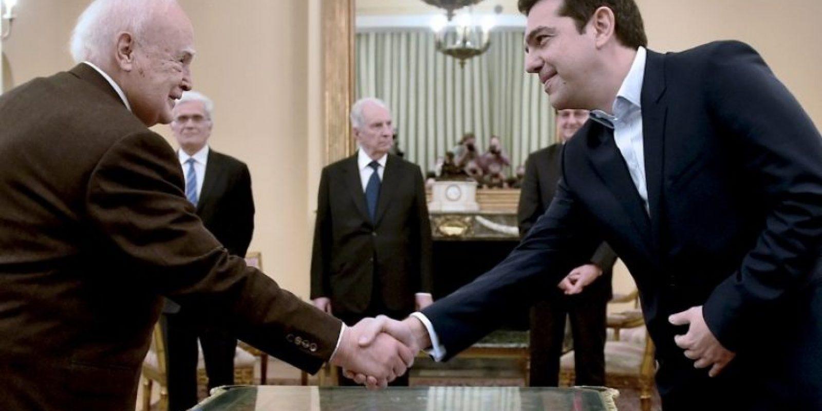 En reunión con el presidente de Grecia, Karolos Papoulias Foto:AFP