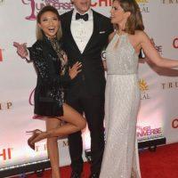 Jeannie Mai, Thomas Roberts y Natalie Morales, presentadora del canal estadounidense NBC Foto:Getty Images