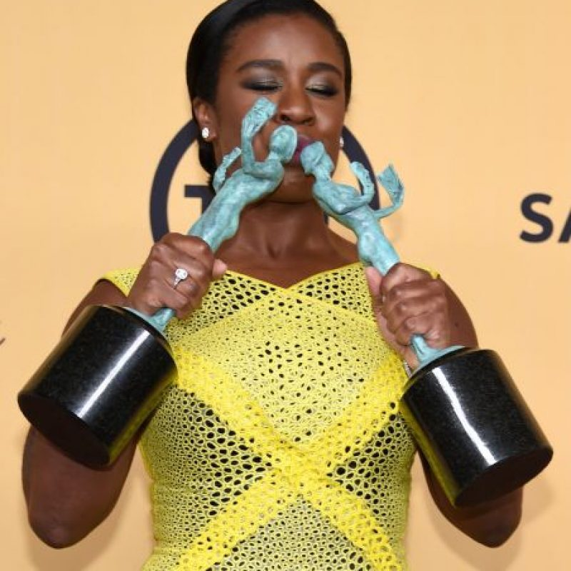 "Uzo Aduba ganó como Mejor actriz y Mejor elenco de serie de comedia por ""Orange Is The New Black"". Foto: Getty Images"