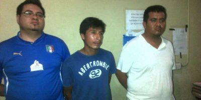 La presunta banda de secuestradores. Foto:PNC