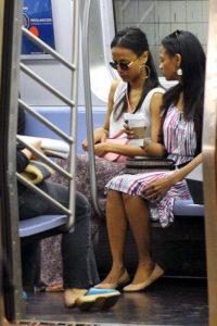 Zoe Saldana Foto:celebritiesonthesubway.tumblr.com