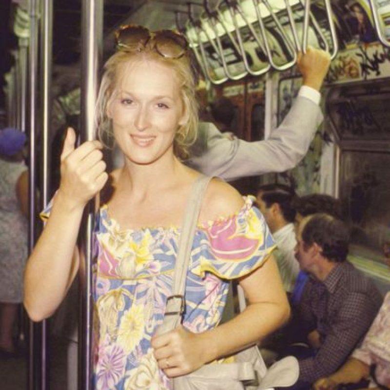 Meryl Streep Foto:celebritiesonthesubway.tumblr.com