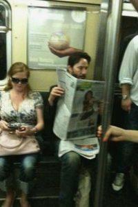 Keanu Reeves Foto:celebritiesonthesubway.tumblr.com