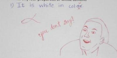 """El que """"trollea"""" la respuesta idiota de su alumno. Foto:HumorTrain"""