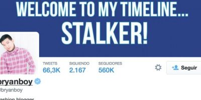 Bryan tiene 560 mil seguidores en Twitter Foto:Twitter