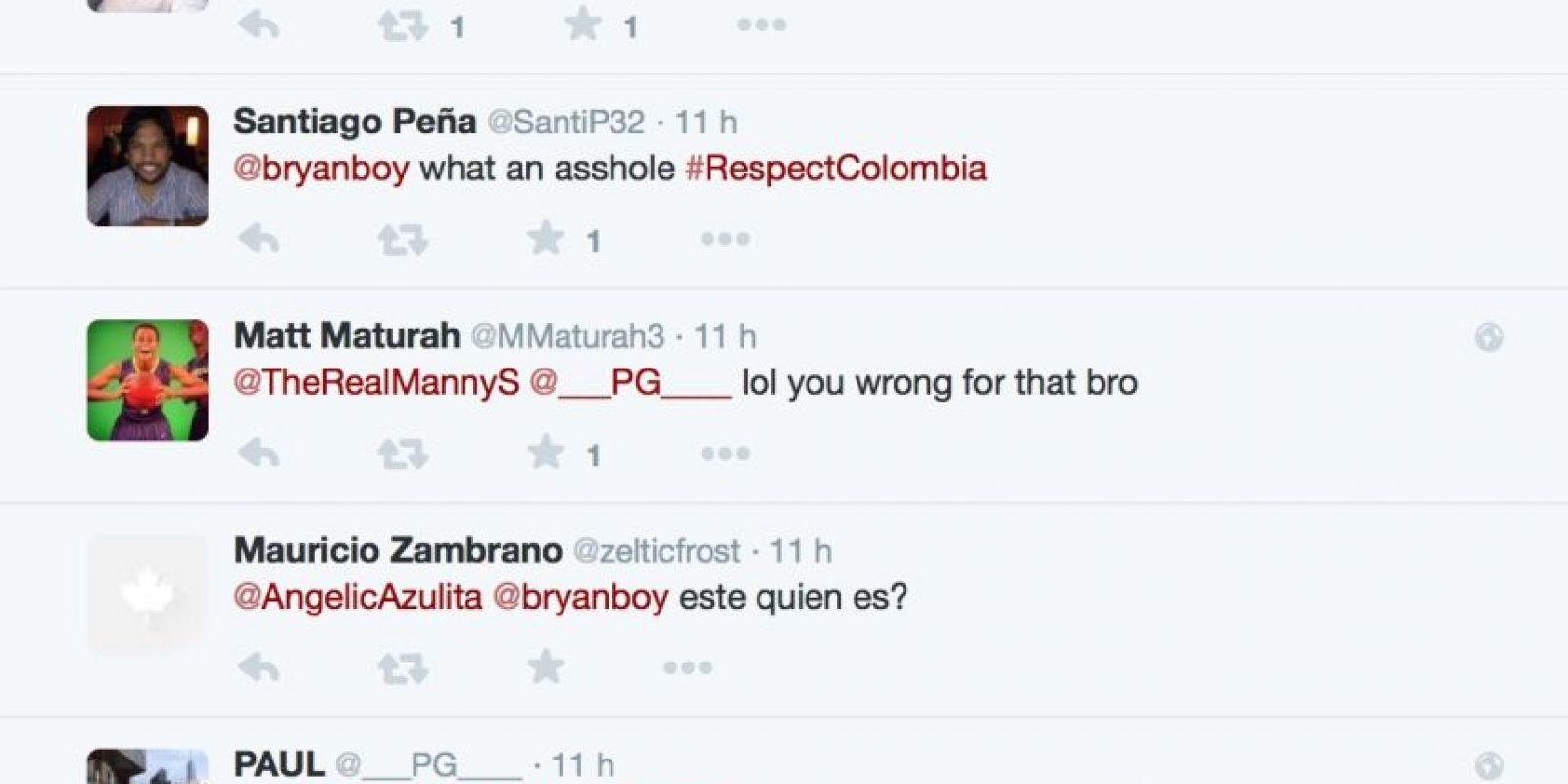 Lo insultaron. Otros le pidieron respeto. Foto:Twitter