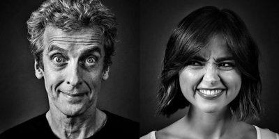 Peter Capaldi y Jenna Coleman Foto:Facebook