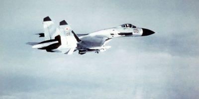 Sukhoi Su-27SK Flanker. Velocidad máxima de Mach 2,35 (2.878,9 km/h) Foto:Wikimedia
