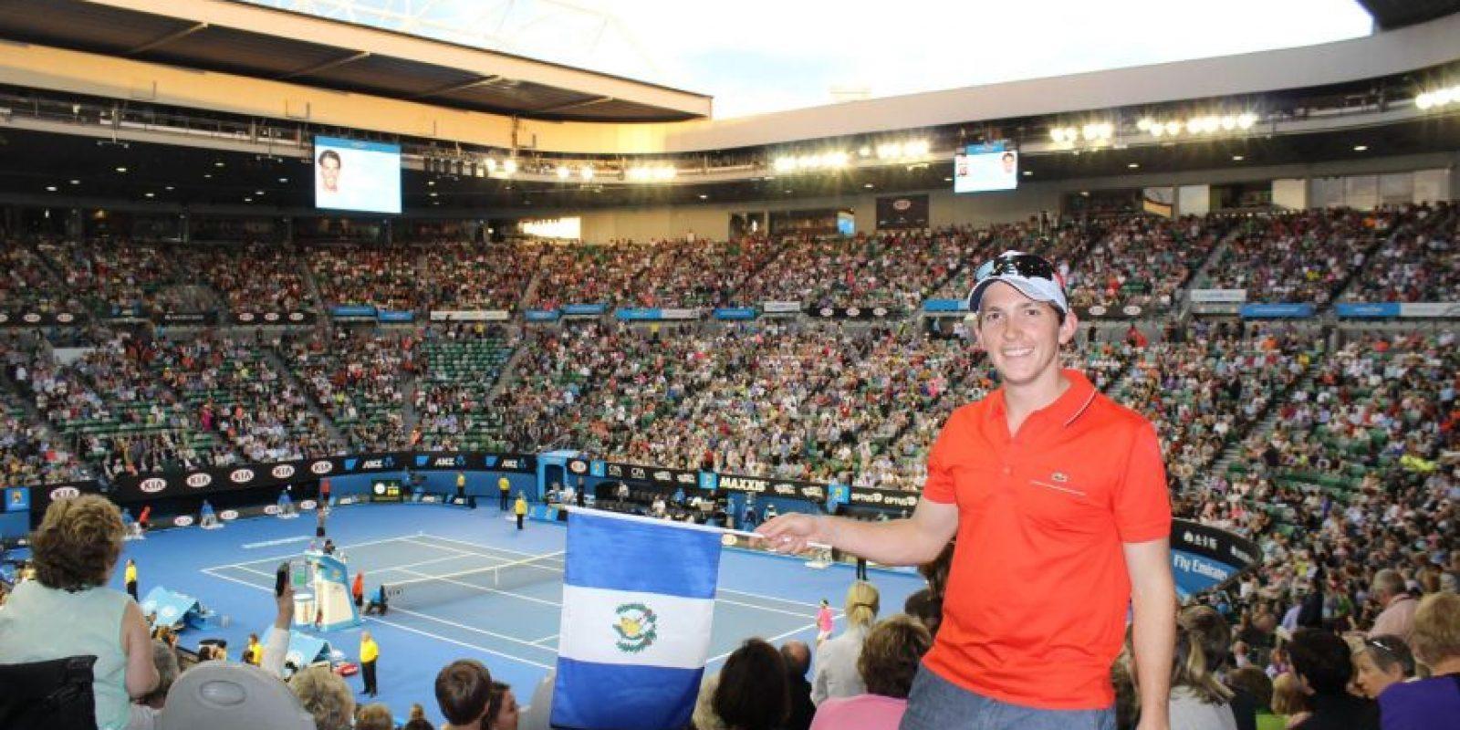 Guillermo Ramos es guatemalteco y reside en Melbourne, en donde se juega el Abierto de Australia. Foto:Cortesía G. Ramos