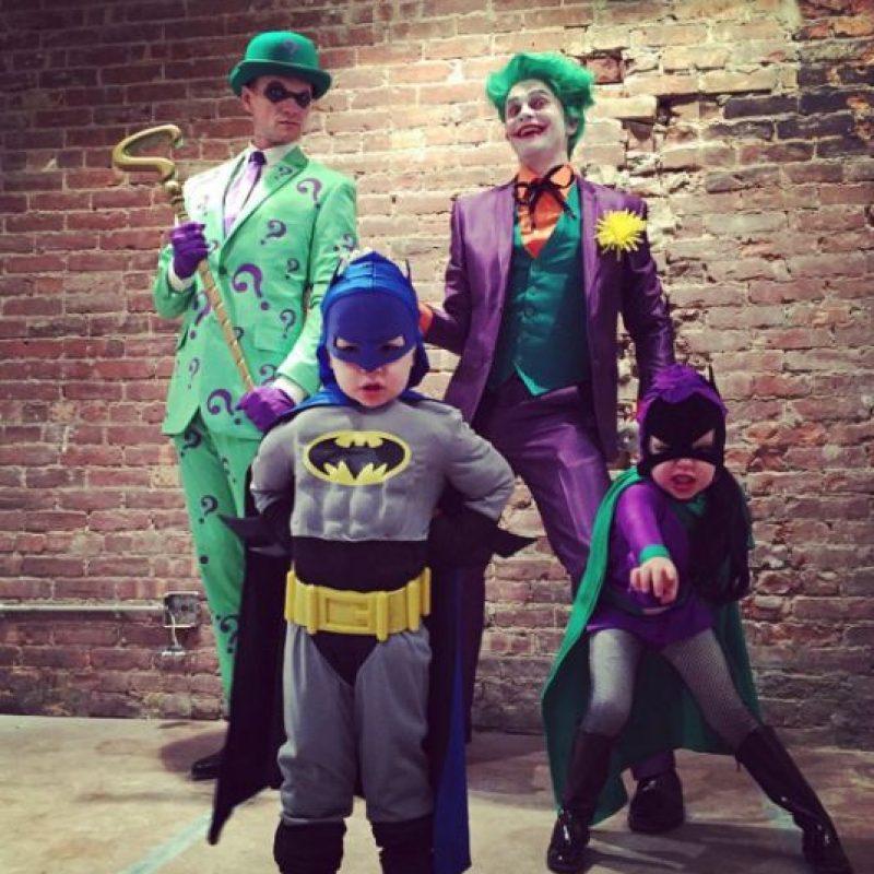Patrick Neil Harris junto a su familia en el día de Halloween. Foto:Instagram/instagranph