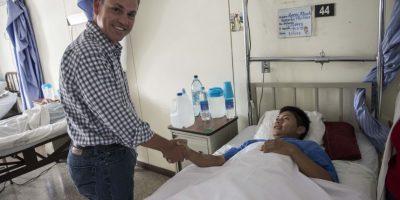 El diputado Cristian Boussinot lo visitó. Foto:Oliver de Ros