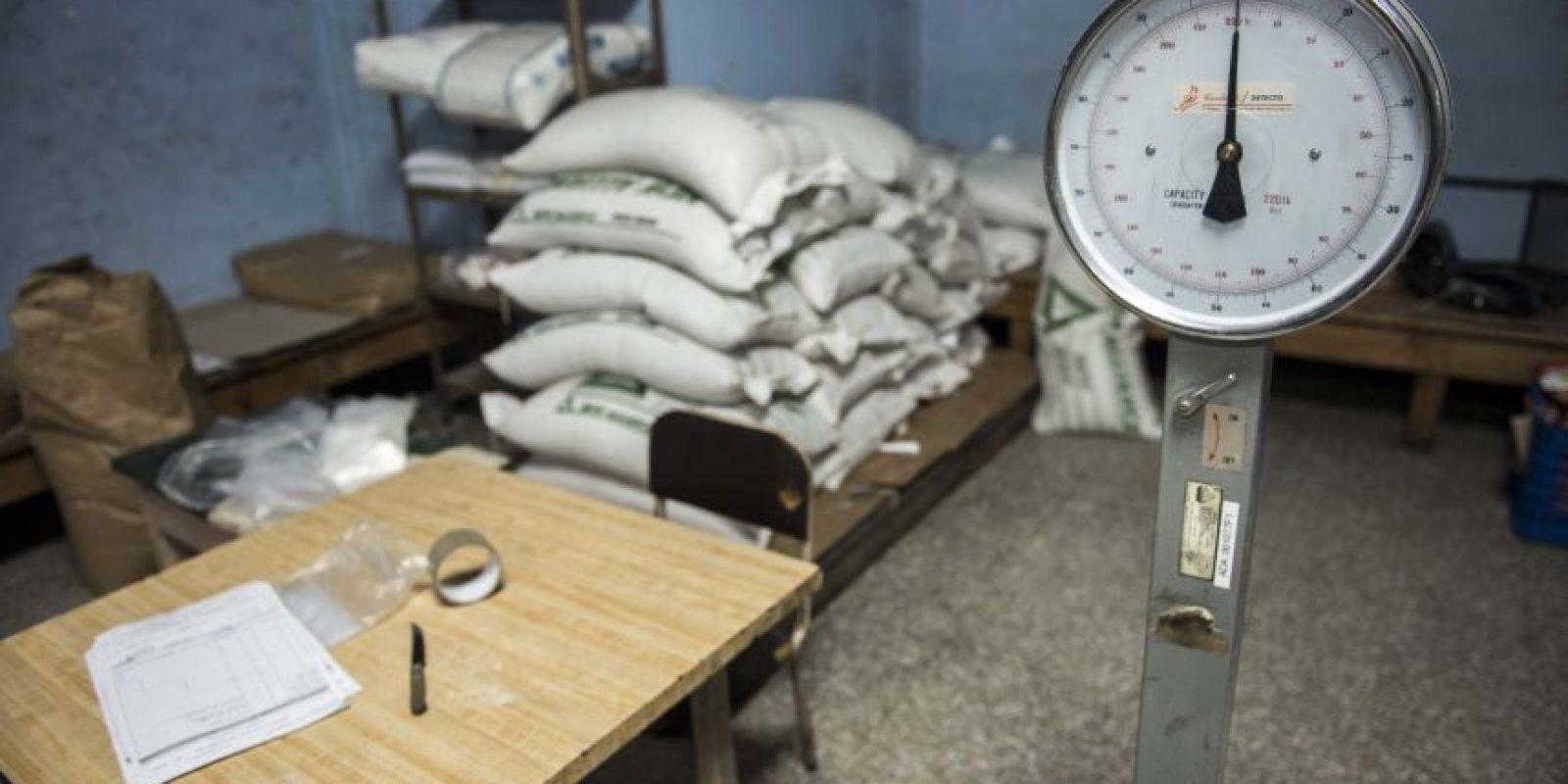 Trabajadores del hospital afirman que la cantidad de harina y maíz cubre solamente para las dos próximas semanas. Foto:Oliver de Ros