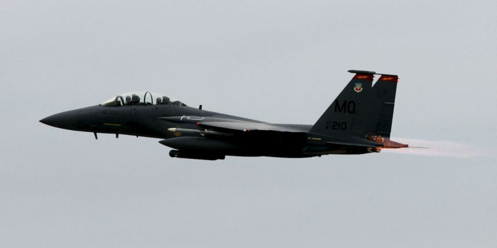 3. F-15E Strike Eagle. Velocidad máxima de Mach 2,5 (3.062,6 km/h) Foto:Wikimedia