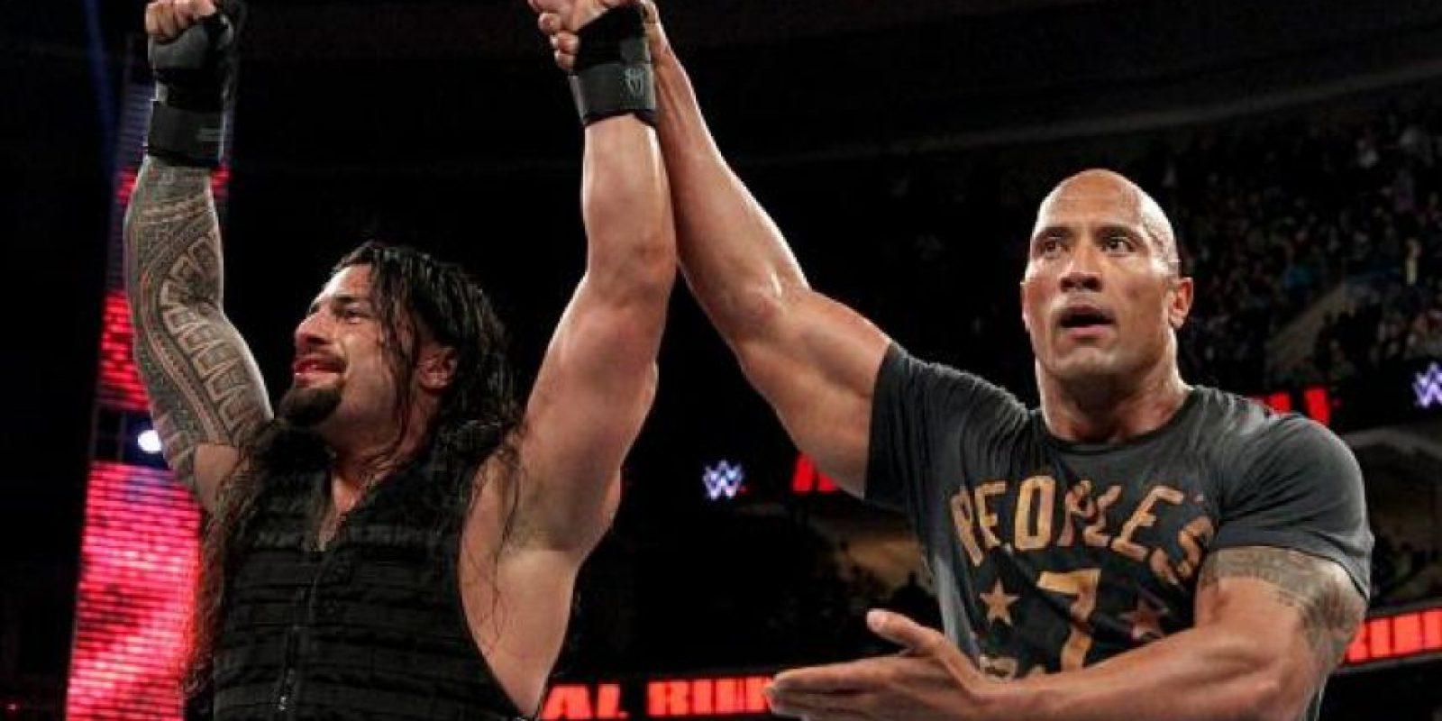 """""""El Campeón del Pueblo"""" apareció en Royal Rumble con una camiseta con el número que porta CR7 Foto:WWE"""
