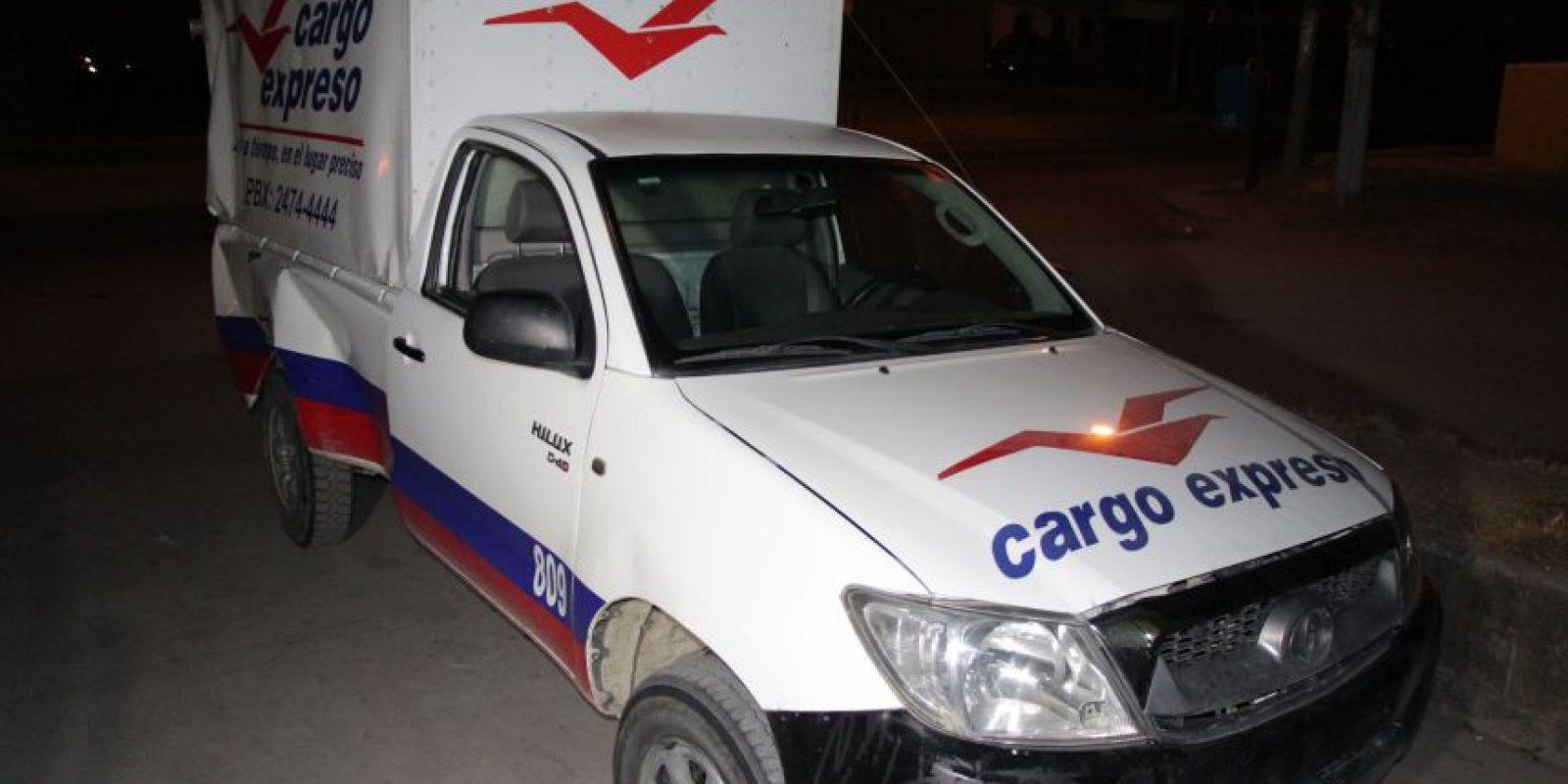 El vehículo de encomiendas. Foto:PNC