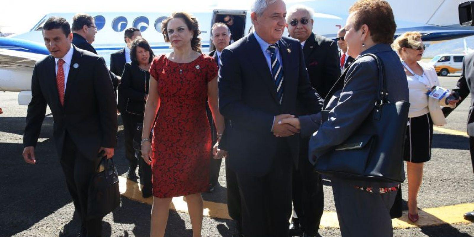 Llegada. Foto:Presidencia