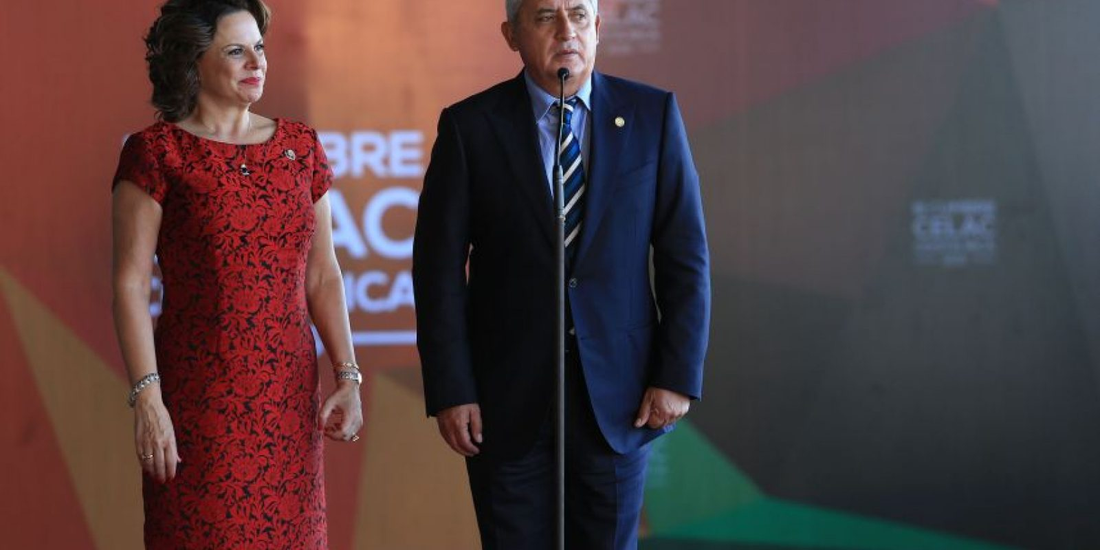 La vicepresidente costarricense, Ana Elena Chacó lo recibió.n Foto:Presidencia