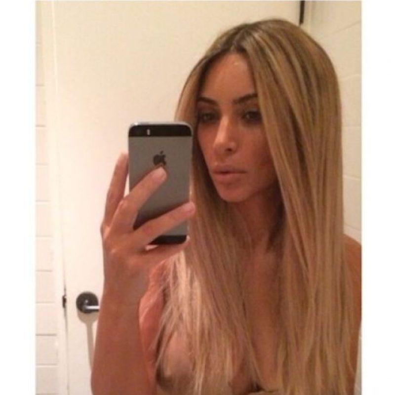 Kim Kardashian posa para la foto Foto:Instagram