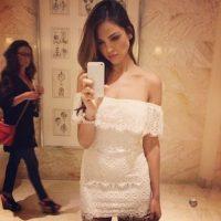La mexicana Eiza González presumiendo su vestido Foto:Instagram